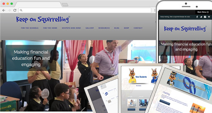 sample website - keeponsquirrelling website